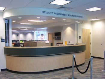 SAS Testing Center front counter