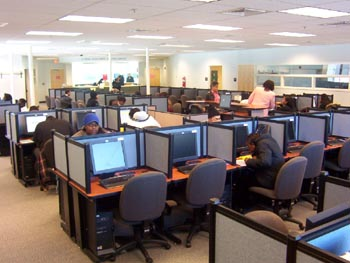 Students in the Testing Center